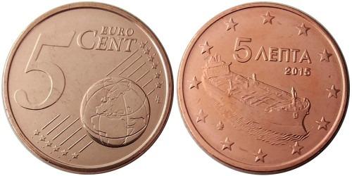 5 евроцентов 2015 Греция UNC
