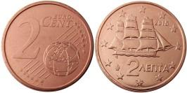 2 евроцента 2015 Греция UNC