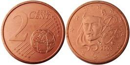 2 евроцента 2003 Франция UNC