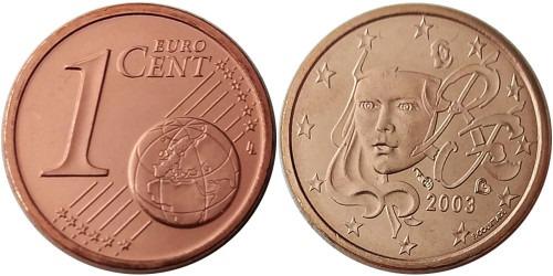 1 евроцент 2003 Франция UNC
