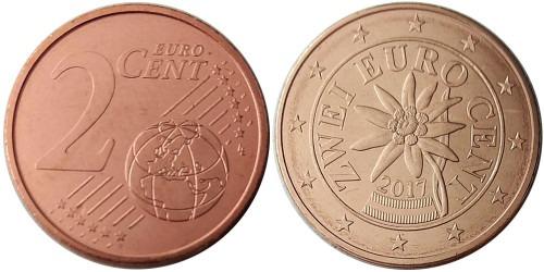 2 евроцента 2017 Австрия UNC