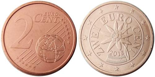2 евроцента 2018 Австрия UNC