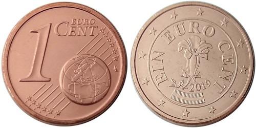 1 евроцент 2019 Австрия UNC