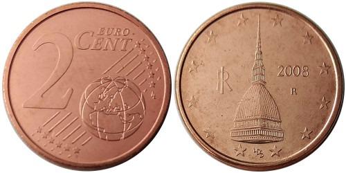 2 евроцента 2008 Италия UNC