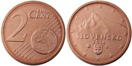 2 евроцента 2014 Словакия UNC