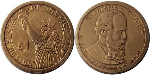 1 доллар 2011 P США — Президент США — Ратерфорд Хейз (1877-1881) №19 уценка