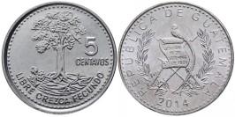 5 сентаво 2014 Гватемала UNC