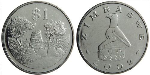 1 доллар 2002 Зимбабве UNC