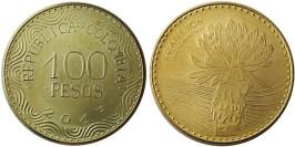 100 песо 2017 Колумбия -Цветок эспелетия UNC