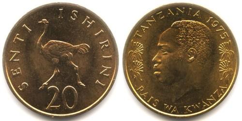 20 центов 1975 Танзания UNC