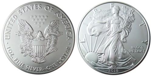 1 доллар 2019 США — Американский серебряный орёл — серебро