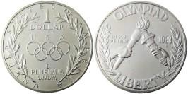 1 доллар 1988 S США — XXIV летние Олимпийские Игры — Сеул 1988 — серебро