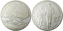 1 доллар 1995 P США — XXVI летние Олимпийские Игры, Атланта 1996 — Бег, Паралимпийские игр — серебро