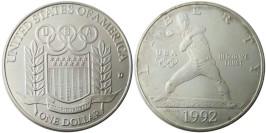 1 доллар 1992 D США — XXV летние Олимпийские Игры, Барселона 1992 — серебро