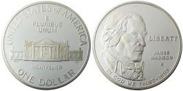 1 доллар 1992 S США — Билль о правах, Джеймс Мэдисон — серебро