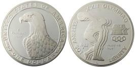 1 доллар 1983 S США — XXIII летние Олимпийские Игры — Дискобол — серебро №1