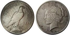 1 доллар 1925 США — Peace Dollar — серебро