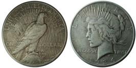 1 доллар 1934 D США — Peace Dollar — серебро