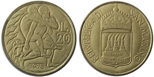 20 лир 1973 Сан-Марино UNC