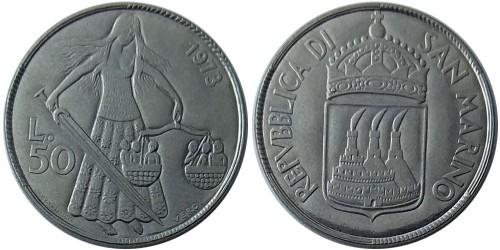 50 лир 1973 Сан-Марино UNC