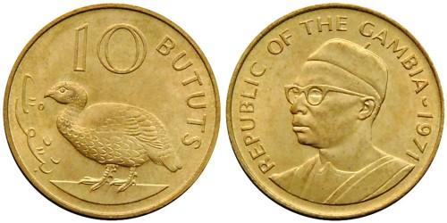 10 бутутов 1971 Гамбия UNC