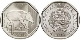 1 соль 2018 Перу — Фауна Перу — Горный тапир UNC
