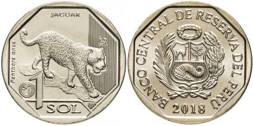 1 соль 2018 Перу — Фауна Перу — Ягуар UNC