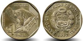 1 соль 2017 Перу — Фауна Перу — Очковый медведь UNC