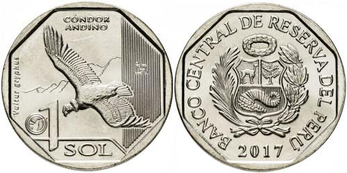 1 соль 2017 Перу — Фауна Перу — Андский кондор UNC