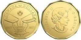 1 доллар 2017 Канада — 100 лет хоккейному клубу Toronto Maple Leafs UNC