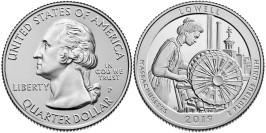 25 центов 2019 P США — Национальный исторический парк Лоуэлл — Lowell Park UNC