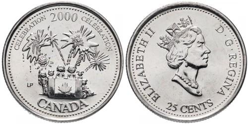 25 центов 2000 Канада — Миллениум — Торжества