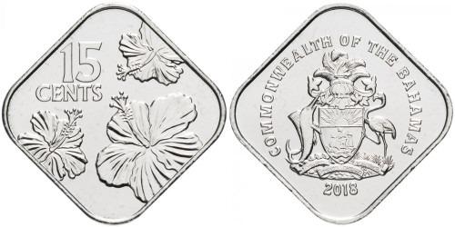 15 центов 2018 Багамские Острова UNC