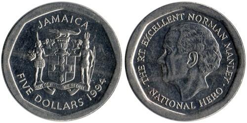 5 долларов 1994 Ямайка
