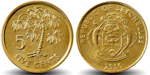 5 центов 2010 Сейшельские острова UNC