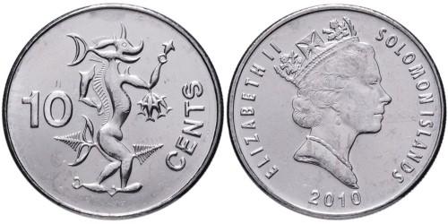 10 центов 2010 Соломоновы острова UNC