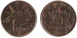 1 цент 2008 Тринидад и Тобаго — Колибри