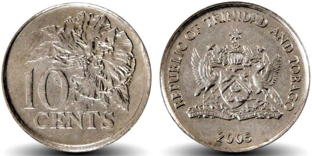 10 центов 2005 Тринидад и Тобаго — Гибискус UNC