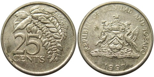 25 центов 1997 Тринидад и Тобаго — Чакония