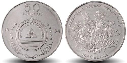 50 эскудо 1994 Кабо-Верде — Растения — Asteriscus vogelli