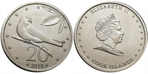 20 центов 2010 Острова Кука