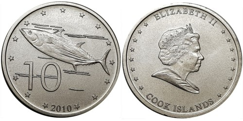 10 центов 2010 Острова Кука