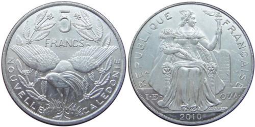 5 франков 2010 Новая Каледония