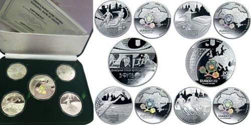 Набор монет из серебра — Финальный турнир чемпионата Европы по футболу 2012 г — Euro 2012