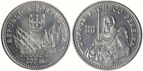 200 эскудо 1999 Португалия — Дуарте Пачеко Перейра