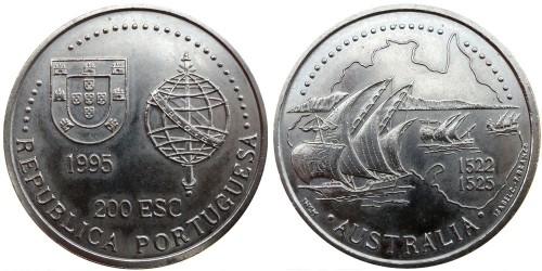 200 эскудо 1995 Португалия — Золотой век открытий — Австралия