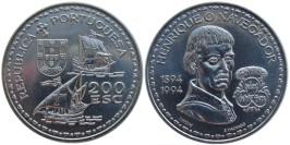 200 эскудо 1994 Португалия — 600 лет со дня рождения Генриха Мореплавателя