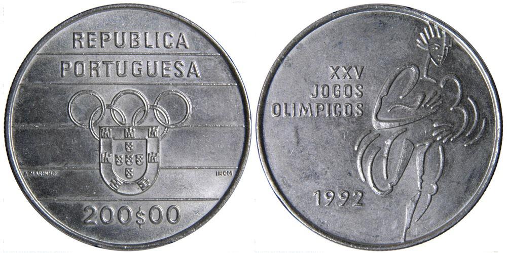 200 эскудо 1992 Португалия — XXV летние Олимпийские Игры, Барселона 1992