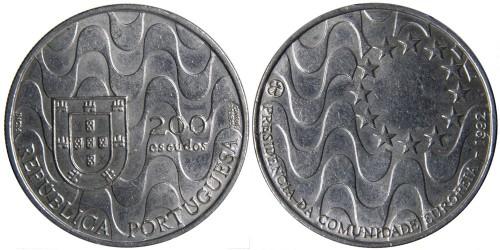 200 эскудо 1992 Португалия — Председательство Португалии в Евросоюзе