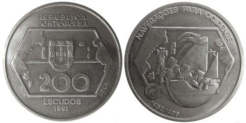 200 эскудо 1991 Португалия — Навигация на запад